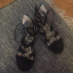 Gladiator ankle tie sandal